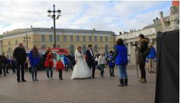 Акция на Стрелке Васильевского острова