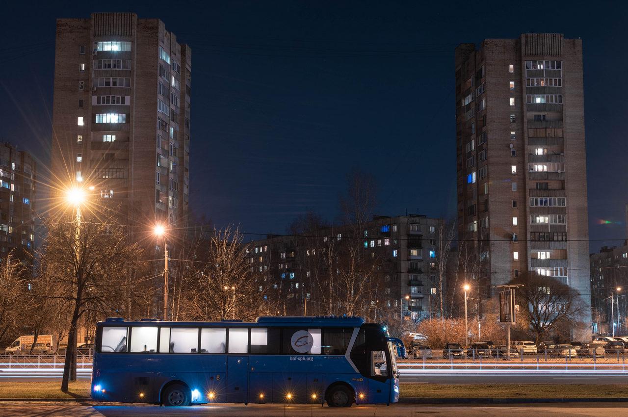 Синий автобус гуманитарное действие